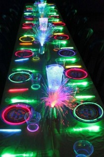 wedding photo - Glow In The Dark Neon Party Ideas   Party Themes For Teenagers