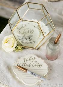 wedding photo - Terrarium Book Table