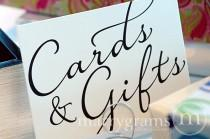wedding photo - Cards & Gifts Sign - Gift Table Signage - Wedding Reception Card Signs - Matching Table Numbers SS03