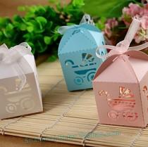 wedding photo - Baby Carriage Favor Box BETER-HH046 Birthday Decorations