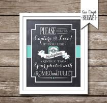 wedding photo - Instagram Wedding Sign - Wedding Hashtag Sign - PRINTABLE - Custom Color - Instagram Hashtag Sign - Wedding Hashtag