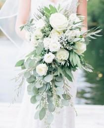 wedding photo - Cascading Bouquets Full Of Whimsy, Romance And Bridal Style