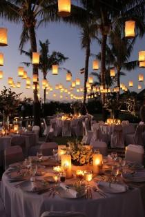 wedding photo - Outdoor Wedding Ideas: 20 Amazing Ways To Use Floating Lanterns