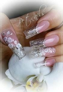 wedding photo - ~ Nails Are A Work Of Art ~