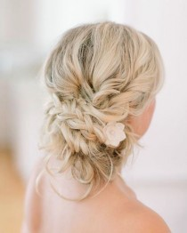 wedding photo - Braided Wedding Updo Hairstyle Via Vienna Glenn Photography