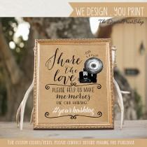 wedding photo - Wedding Hashtag Sign social media Sign photo share our love faux kraft paper signage Party photobooth Decoration Digital Printable  jpg