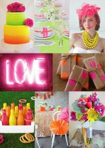 wedding photo - Neon Wedding Colours - Moody Monday - The Wedding Community Blog
