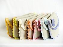 wedding photo - Set of 7 bridesmaids clutches, pastel colors custom bridesmaids clutch bags, bridal party