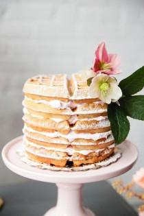 wedding photo - Waffle Cake