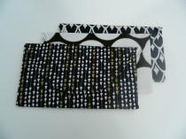 wedding photo - Black, white, and gold envelope clutches, bridesmaid gifts - Set of 3