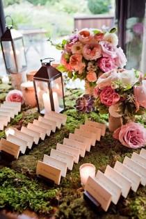 wedding photo - Pretty, Inventive Wedding Reception Escort Cards