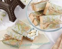 wedding photo - World Map Favor Box bride Wedding Decor souvenir BETER-TH031