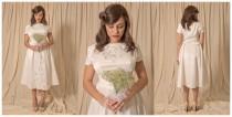wedding photo - 1950s vintage wedding dress