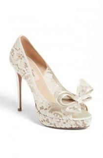 "wedding photo - Women's Valentino Couture Bow D'Orsay Pump, 4"" Heel"