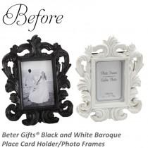 wedding photo - Beter Gifts® Black and White Baroque Place Card Holder/Photo Frames BETER-SZ041
