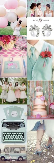 wedding photo - Pastels And Petticoats: 1950s Wedding Ideas
