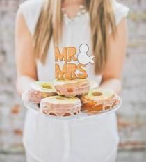 wedding photo - Wooden Cake Topper