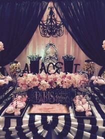 wedding photo - Parisian Quinceañera Birthday Party Ideas