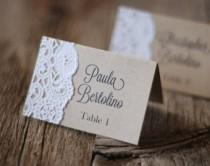 wedding photo - Handmade Rustic Tented Table Place Card Setting - Custom - Escort Card - Shabby Chic - Vintage Burlap & Lace - Gift Tag Or Label - Thank You