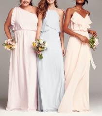 wedding photo - nouvelle AMSALE 'Drew' Ruffle Front Chiffon Gown