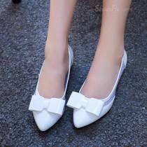 wedding photo - White Flat Shoes