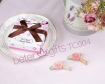 wedding photo - Beter Gifts®Cherry Blossom Chopsticks Holders Chinese Wedding Favors