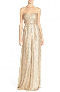 wedding photo - Amsale Strapless Sequin Tulle Gown