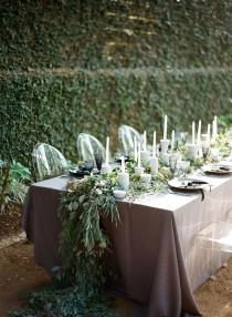 wedding photo - Dramatic Fall Tablescapes