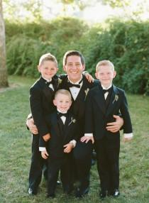 wedding photo - Groom With Ring Bearers