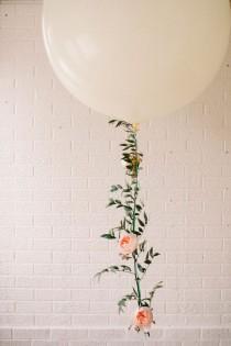 wedding photo - DIY Floral Balloon Garland