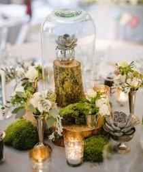 wedding photo - Bell Jar For Rustic Wedding