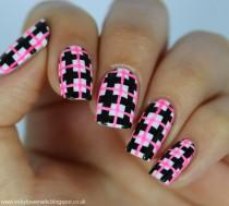 wedding photo - Neon Check Manicure