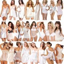 1da2b82e09c05 New Women Sexy Lingerie Nightwear Underwear Sleepwear White Wedding Lace  Dress