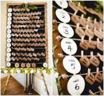wedding photo - Rustic Wedding Escort Card Display
