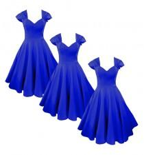wedding photo - Elizabeth Stone, 'Vivien' 50s Bridemaid Rockabilly Dress in Royal Blue