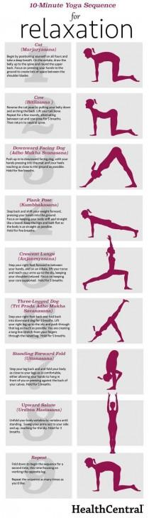 wedding photo - 10-Minute Yoga Sequence For Relaxation (INFOGRAPHIC) - Exercise - Anxiety