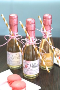 wedding photo - Custom Mini Champagne Will You Be My Bridesmaid Labels - Will You Be My Maid Of Honor & Bridesmaid Gift - Mini Champagne Label