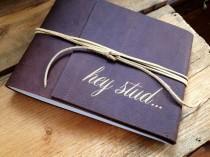 wedding photo - Leather Bound Boudoir Book