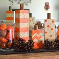 wedding photo - Craft A Rustic Pumpkin With Scrap Wood