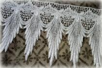 """wedding photo - Ivory Lace Fabric Trim, Lace Fabric, Guipure Lace, Venice Lace, Bridal Lace, Costume Design, Lace Applique, Crafting Lace, approx. 6"""" GL-006"""