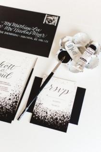 wedding photo - Modern Black & White Inspiration Shoot