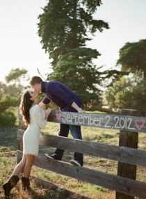 wedding photo - Such A Cute Idea For Save-the-date