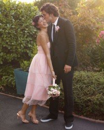 wedding photo - A Casual Yellow-and-Pink Wedding At Home In California