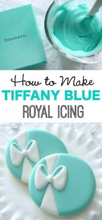 wedding photo - How To Make Tiffany Blue Icing