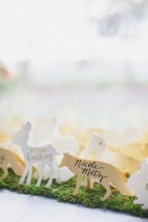 wedding photo - Unique Escort Card Displays