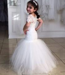 wedding photo - 2016 Princess Flower Girl Dresses S