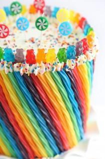 wedding photo - Rainbow Candy Cake