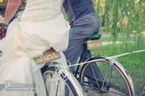 wedding photo - Bicycle Wedding