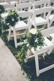 wedding photo - California Wedding: Chic Green And Elegant