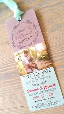 wedding photo - Save The Date Bookmark, Save The Date Bookmarks, Bookmark Save The Date, Save The Date, Save The Dates, Bookmark, Bookmark Invitation